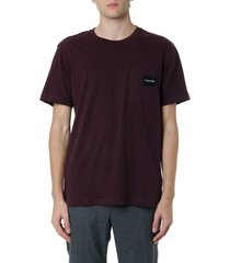 calvin klein burgundy basic t-shirt with logo patch