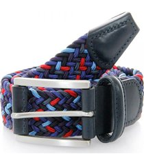 anderson's belts elastic woven belt | dark multi | 0667-057