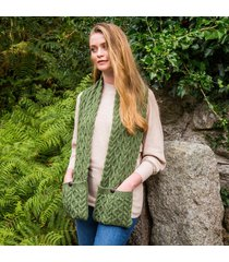 green the cable pocket scarf