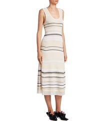 striped scoopneck dress
