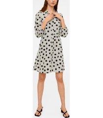 mango polka dot shirt dress