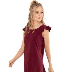 vestido trevi marrón ragged pf11510953