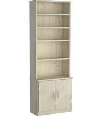 estante livraria 2 portas 1277 marfim areia m foscarini - bege - dafiti