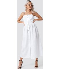 rut&circle button field dress - white