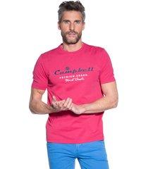 campbell t-shirt met korte mouwen roze