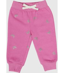 pantalón de buzo básico rosado i beba corona