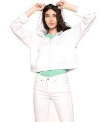 chaqueta blanco levis