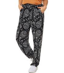 pantalón negro mecano  seda arabian