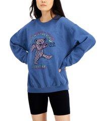 junk food grateful dead bears fleece crewneck sweatshirt