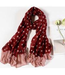 sciarpe lunghe casuali della sciarpa di colore della rappezzatura del pentagramma del cotone delle donne