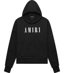 core logo hoodie black