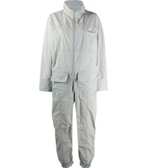 maison margiela funnel neck zipped jumpsuit - grey