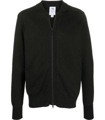y-3 zipped short sweatshirt - black