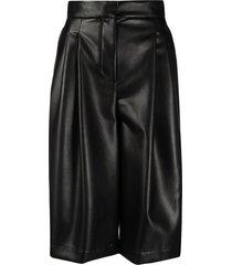 philosophy di lorenzo serafini faux leather knee-length shorts - black
