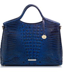 brahmin elaine melbourne embossed leather satchel