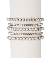 eye candy la women's emma 18k white goldplated bracelet