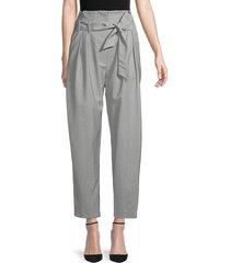 iro women's esyle wool paperbag pants - black - size 34 (2)