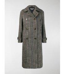 stella mccartney chevron button-up coat