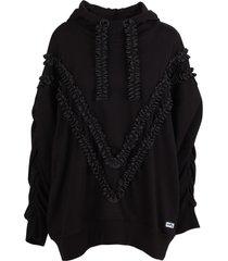 vivetta cotton over hoodie