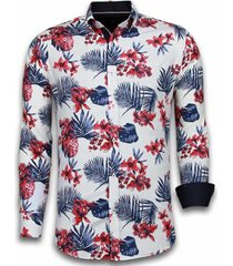 overhemd lange mouw tony backer blouse big flower pattern