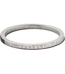 botier 18kt white gold day and night diamond eternity ring - 18 ct.