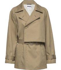 trace jacket trench coat rock beige hope