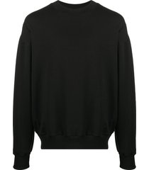 alchemy slouchy crewneck sweatshirt - black