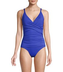 pearl ruched 1-piece swimsuit