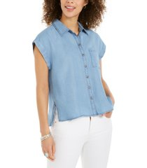 style & co petite camp shirt, created for macy's