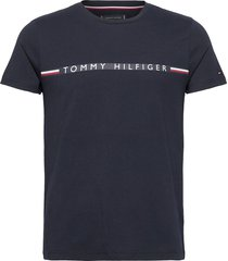 mini stripe tee t-shirts short-sleeved blå tommy hilfiger