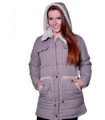 casaco sobretudo carbella carbella frio extremo cinza - tricae