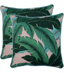 "swaying palms capri 18.5"" throw pillow, set of 2"