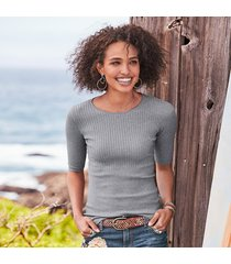 brighton rib knit pullover