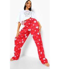wide leg valentijns disney pyjama set, rood