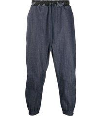 alchemy drop crotch trousers - blue