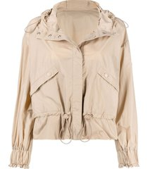 moncler toggle-fastening long-sleeve jacket - neutrals
