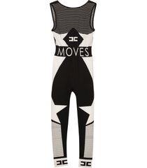 elisabetta franchi moves line jersey jumpsuit