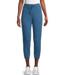 james perse women's pull-on cotton sweatpants - curacao - size 3 (l)