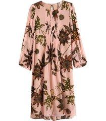 floral transparencies dress in rose passiflora ts
