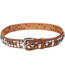 moha studded leather belt