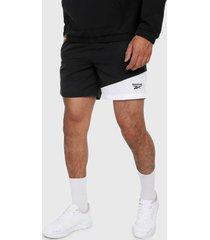 pantaloneta negro-blanco reebok classics