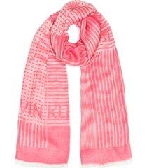 calvin klein geo graphic logo wrap scarf