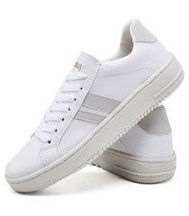 tênis sapatênis fashion feminino dubuy 022el branco