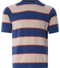 far afield newport t-shirt | ensign blue/lambs white | afkn200-blu