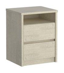 mesa de cabeceira 2 gavetas 807 marfim areia m foscarini off-white