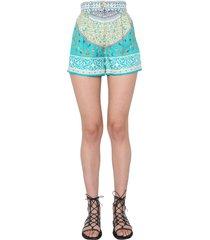 etro silk shorts