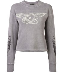 yeezy loose fitted sweatshirt - grey