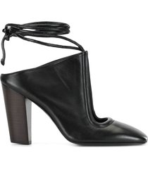 lemaire wrap tie mules - black