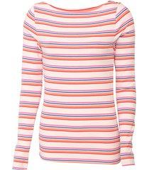 blusa gap listrada rosa/azul - rosa - feminino - algodã£o - dafiti
