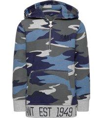 d1. gant landscape hoodie hoodie trui blauw gant